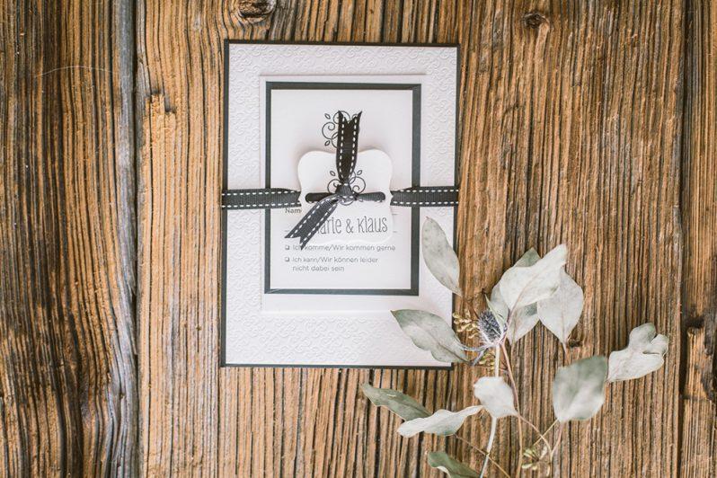 """Hochzeitseinladung """"Letterpress in Black & White"""""""