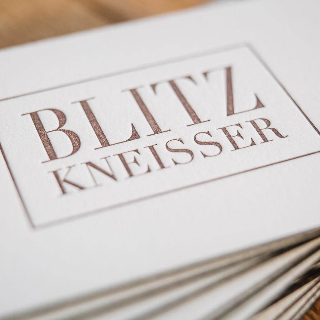 Blitzkneisser Film Papier Liebe Visitenkarten Katja Haas