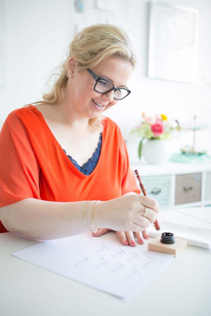 Kalligrafieren mit dem Oblique-Penholder