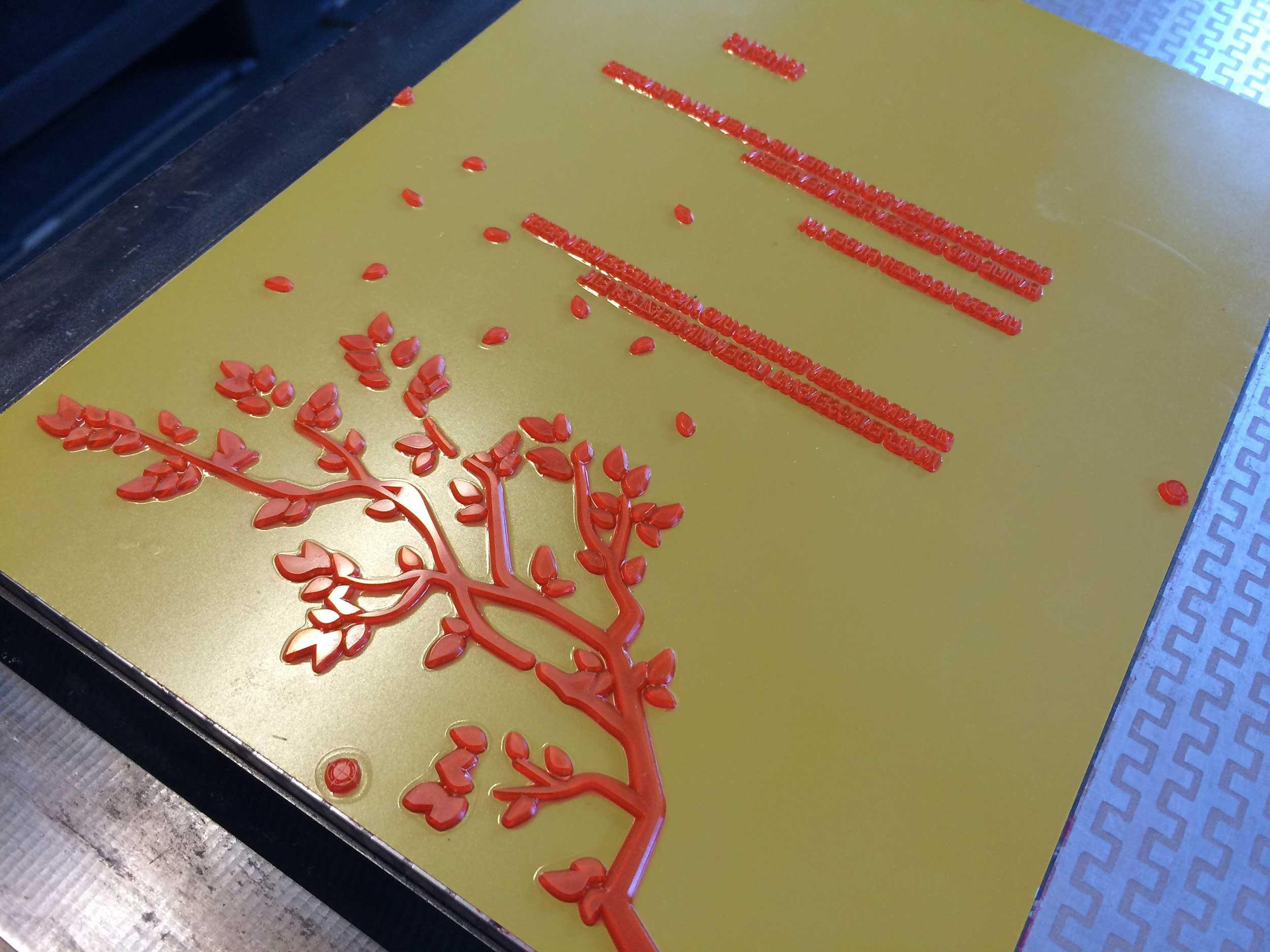 Letterpress Druckplatte Druckklischee