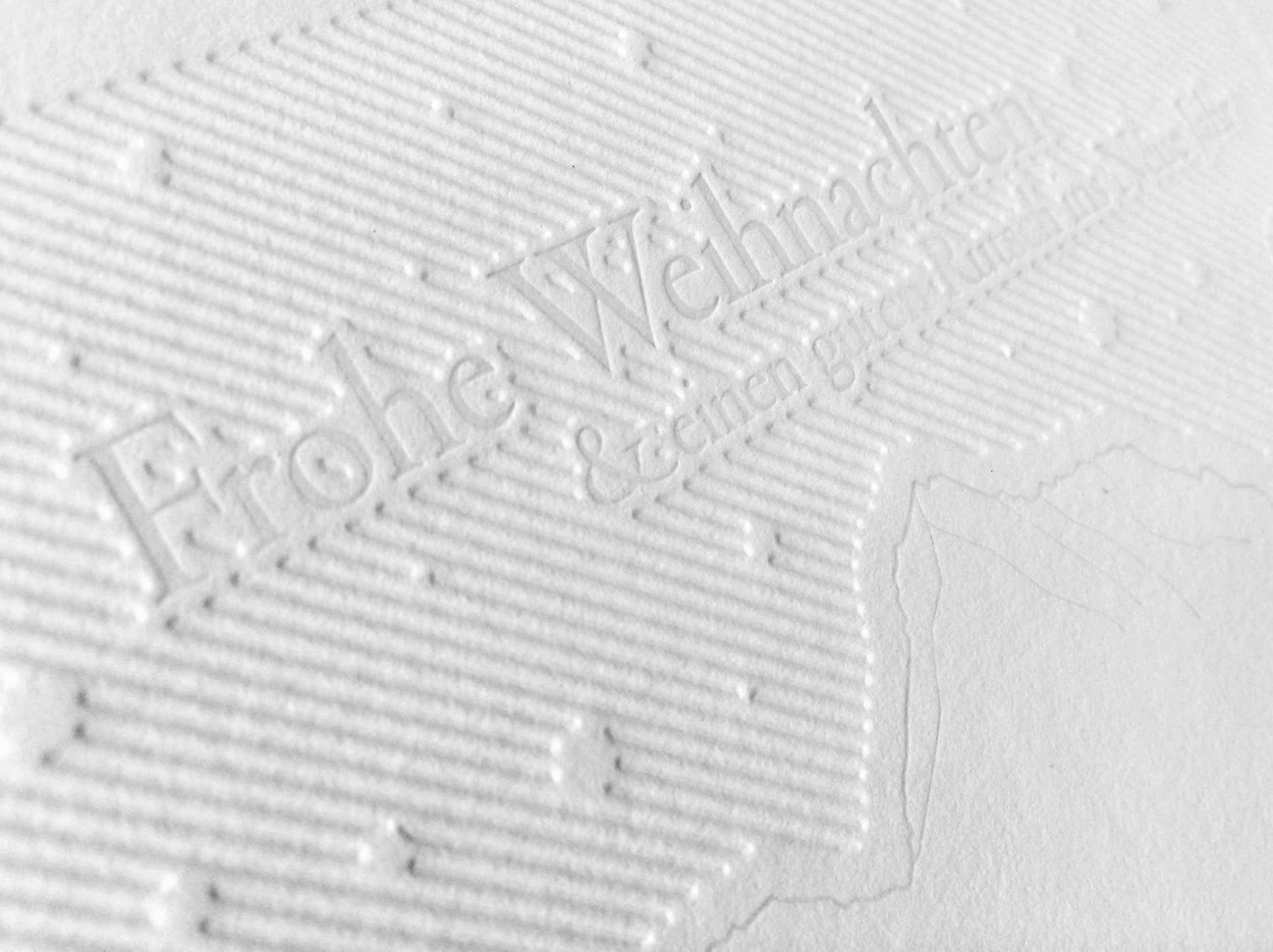 Letterpress Papier mit hohem Baumwollanteil