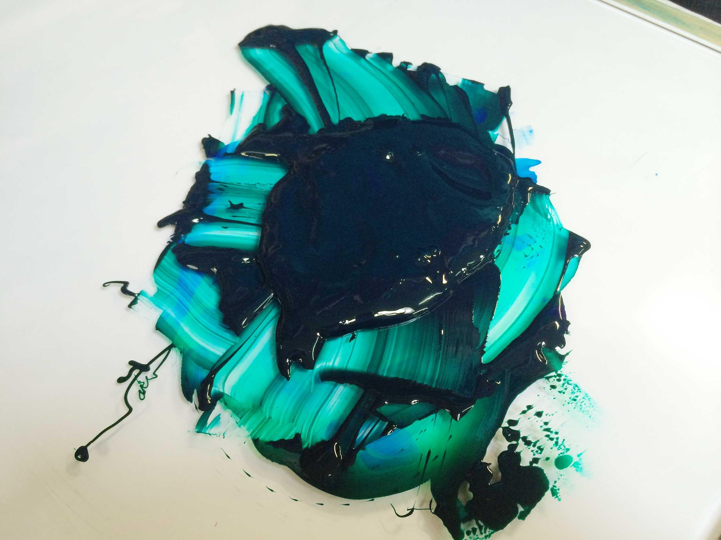 Letterpress Pantone Farbe mischen