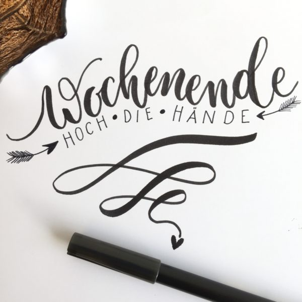 Lettering und Kalligrafie   PapierLiebe