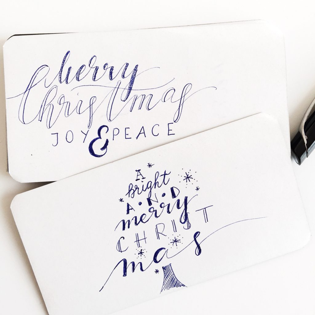 Weihnachts-Lettering