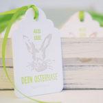Letterpress-Anhängerkärtchen Ostern