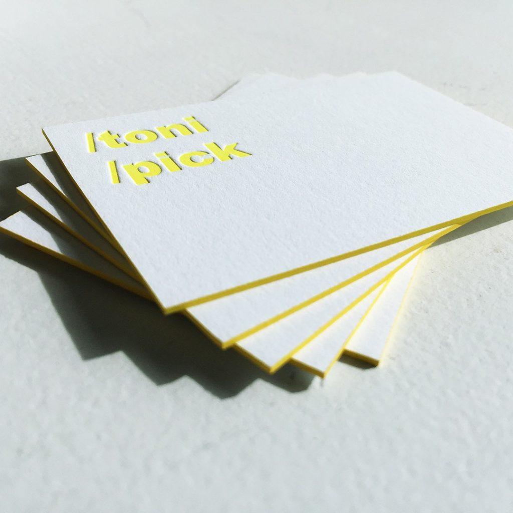 Letterpress-Visitenkarte