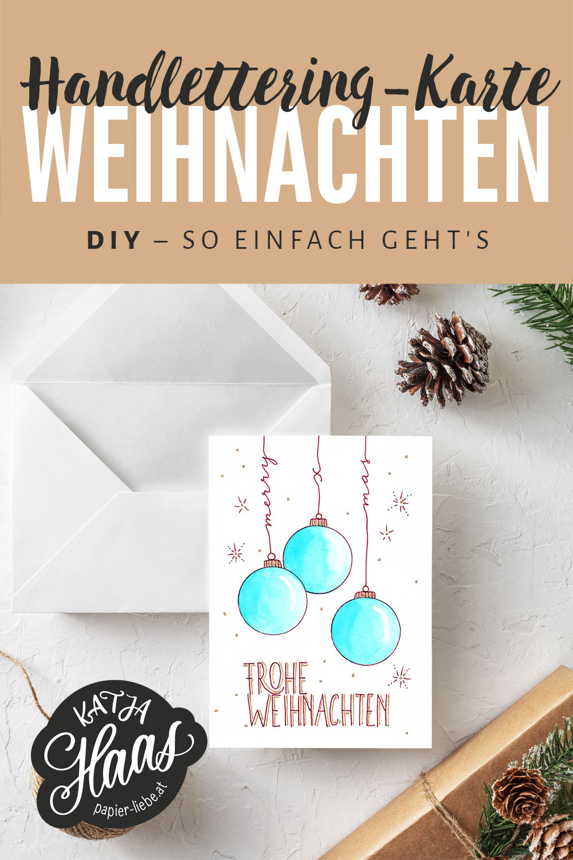 Handlettering-Karte Frohe Weihnachten, DIY