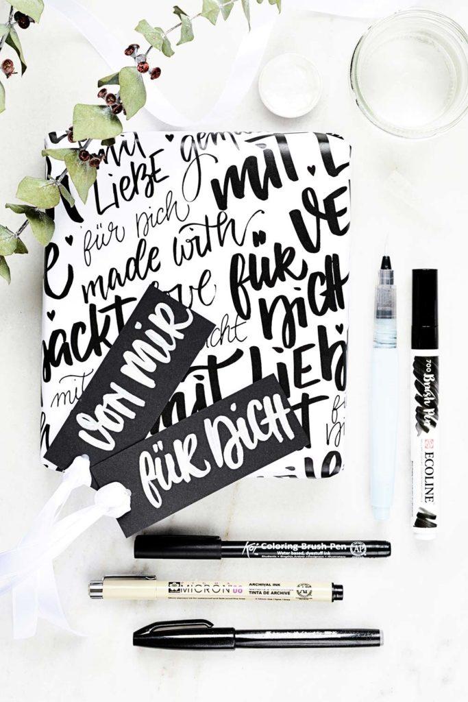 PapierLiebe-geschenk-verpackung-brush-lettering