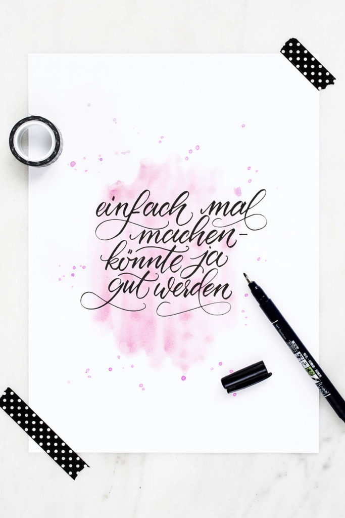 Papierliebe-brush-lettering-watercolor-spruch-einfach-mal-machen