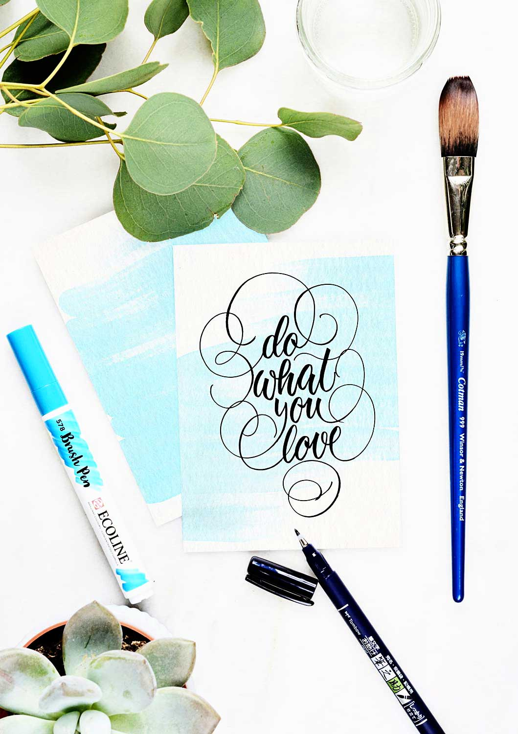 Brush-Lettering & Watercolor