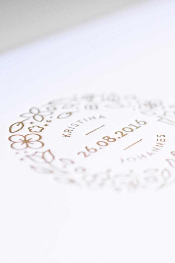 Letterpress-Karte