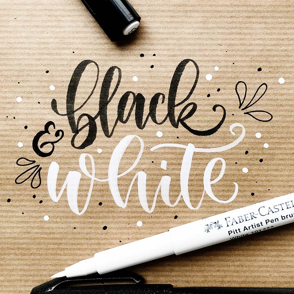 Pitt Artist Brush Pen weiß von Faber Castell
