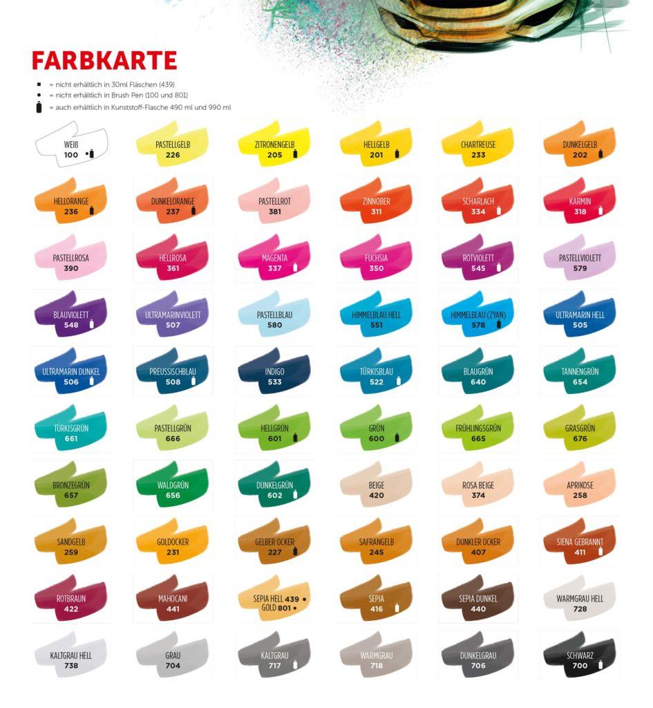 Royal Talens Ecoline Farben