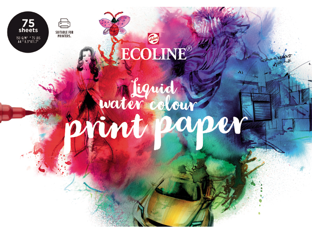 ECOLINE Liquid water colour print paper