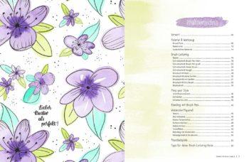 Inhaltsverzeichnis Buch Brush Lettering und Watercolor