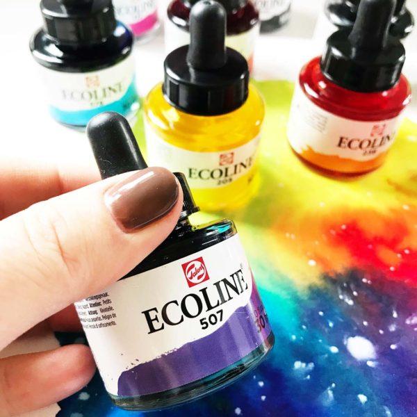 Ecoline flüssige Wasserfarben von Royal Talens
