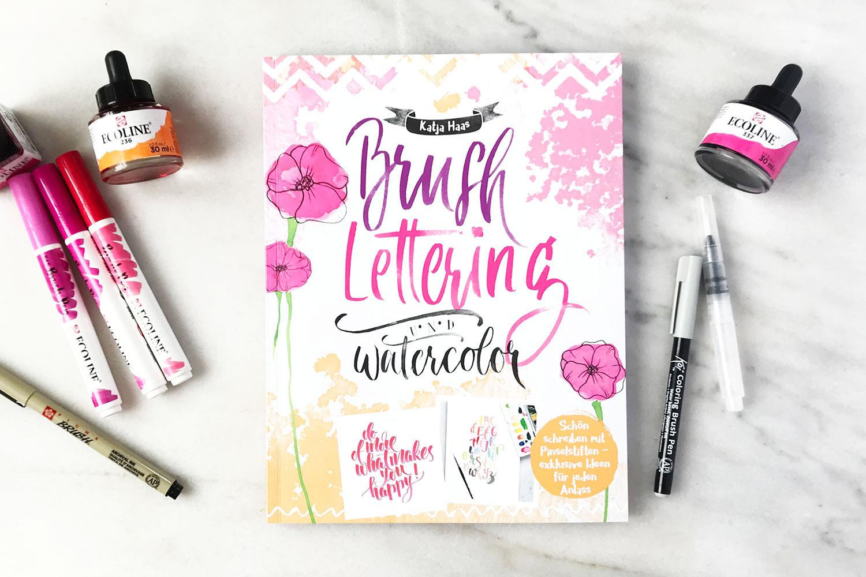 Brush-Lettering & Watercolor – Buch und Übungsheft von Katja Haas PapierLiebe
