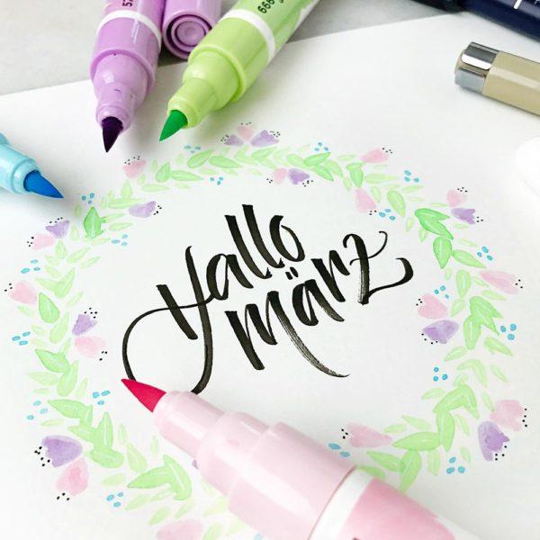 Das neue Ecoline-Pastel-Set – 5 hübsche Brush Pens in einem Paket. Tolle Trendfarben für den Frühling 2018