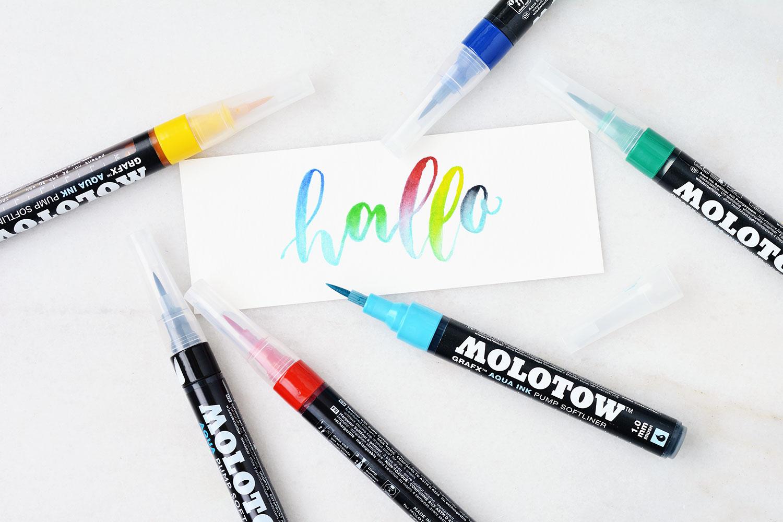 Brush Pens Molotow Grafx Aqua Ink Pump Softliner
