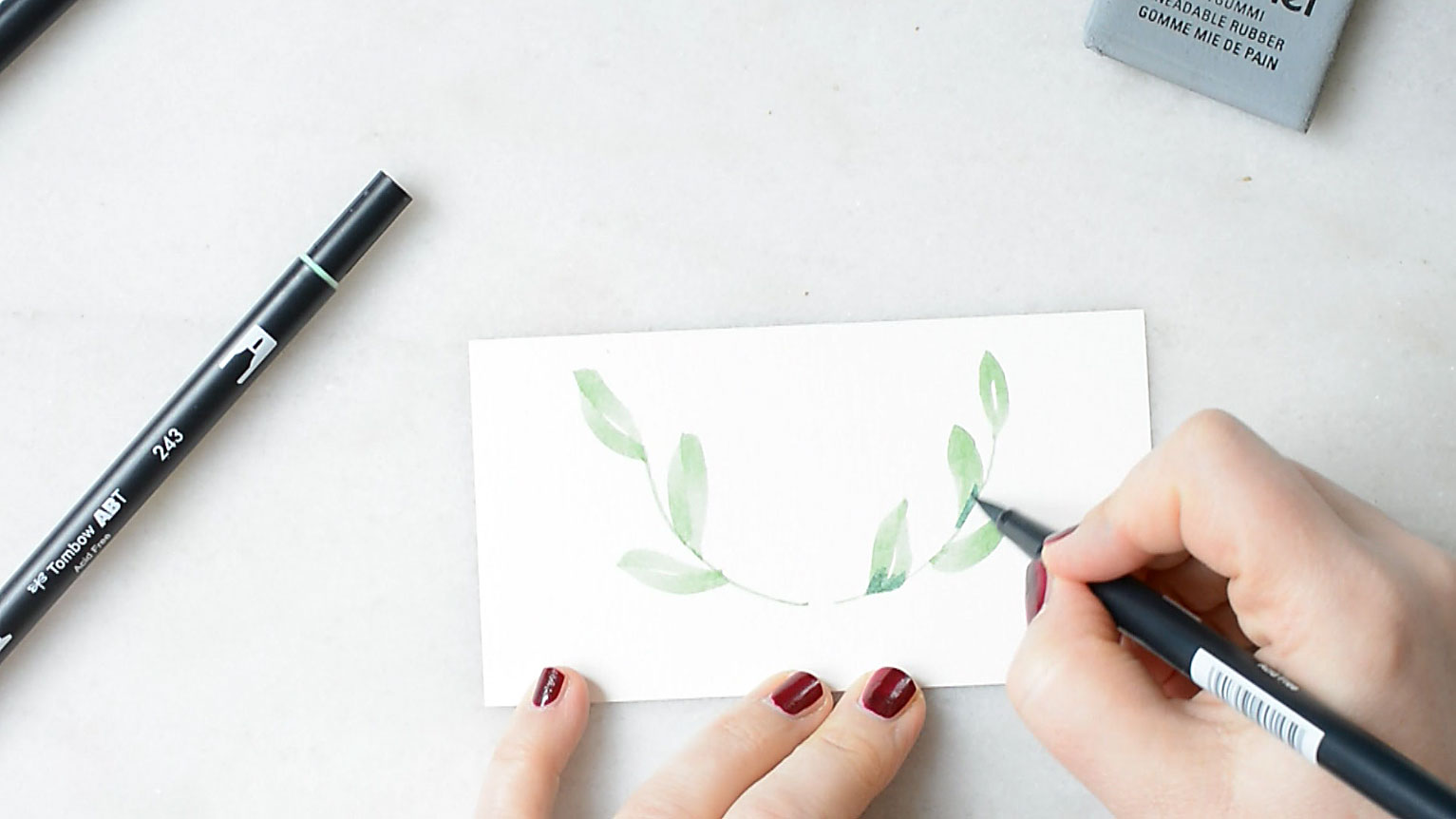 watercolor-blaetter-leaves-making-of