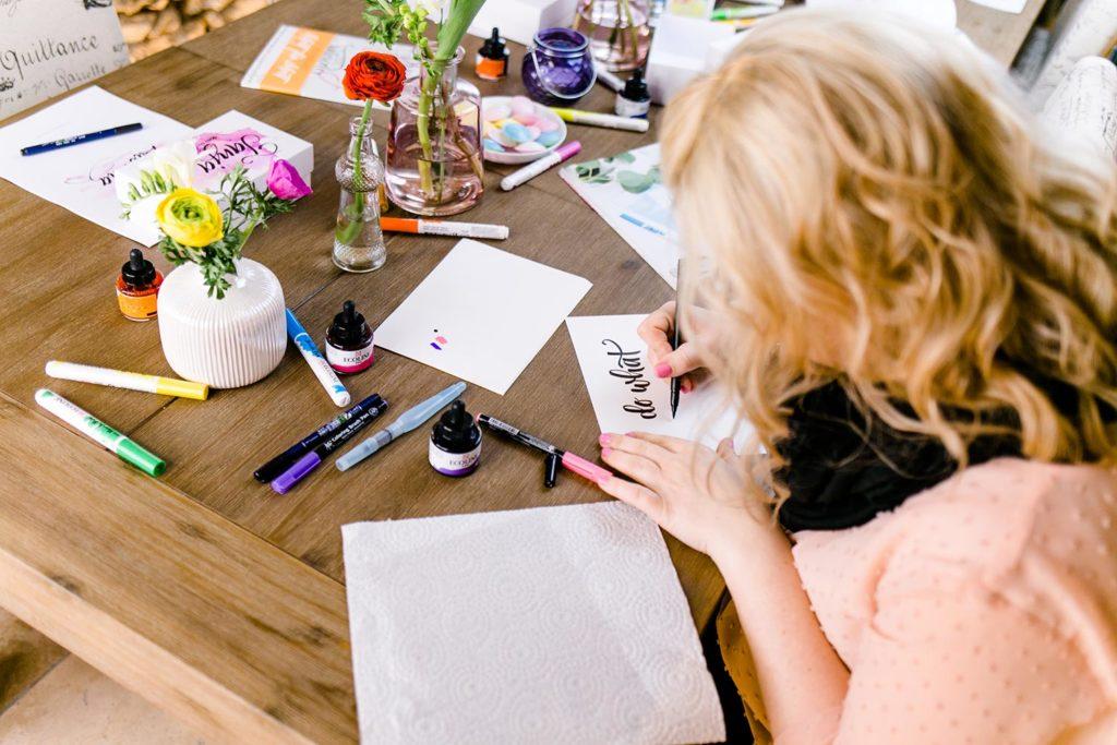 Brush-Lettering-Workshop Katja Haas von PapierLiebe