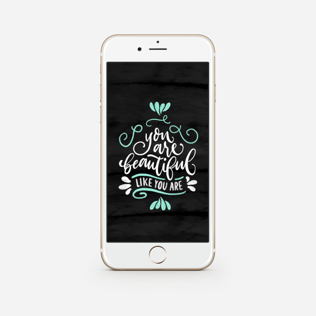Wallpaper für iPhone Brush-Lettering iPad Chalk-Lettering