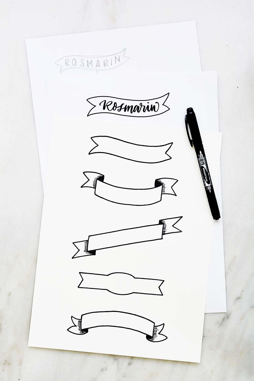 Banner skizzieren und nachzeichnen