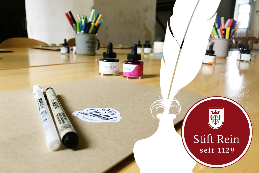 Brush-Lettering-Workshop Katja Haas im Stift Rein
