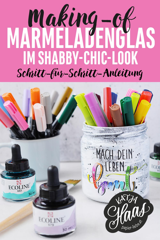 Marmeladenglas im Shabby-Chic-Look