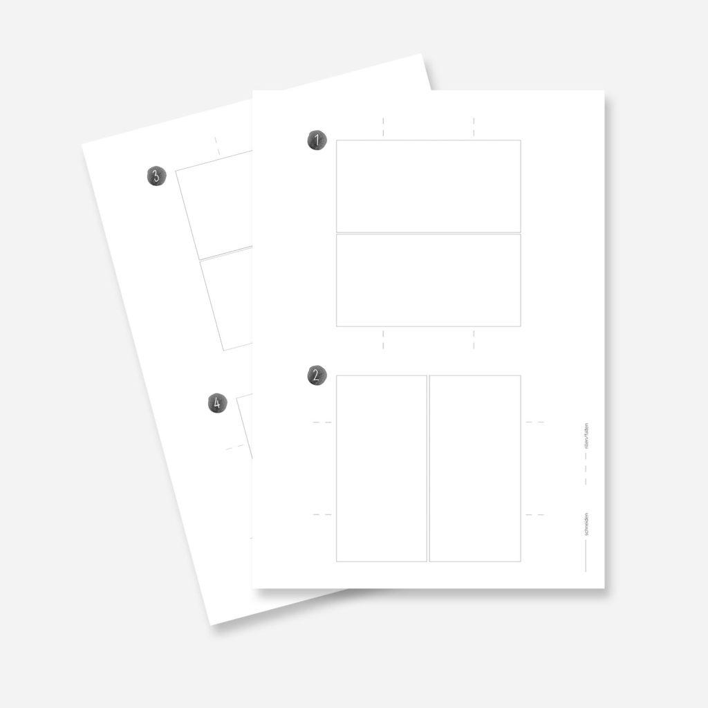 Endlos-Faltkarte Druckvorlage