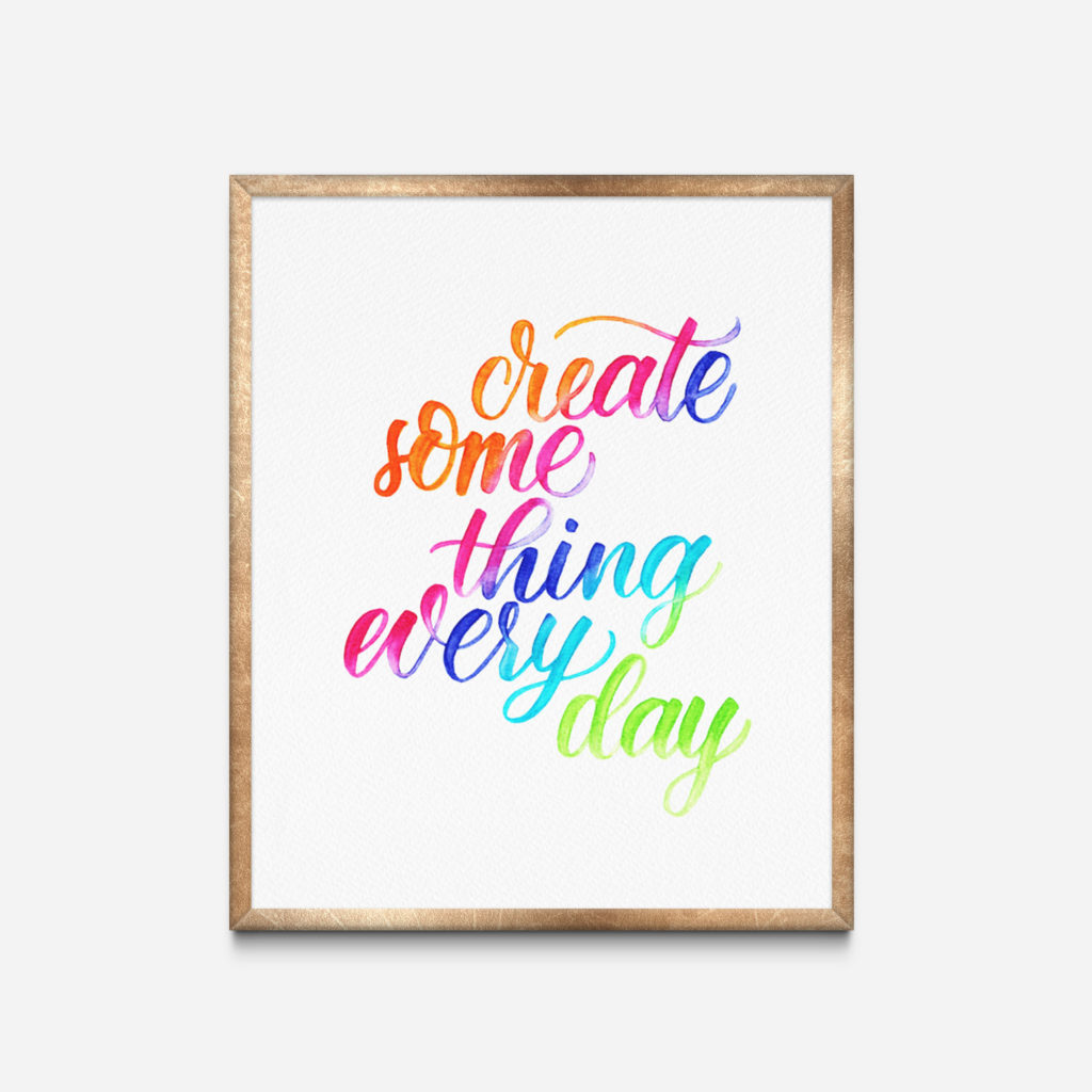 create some thing every day
