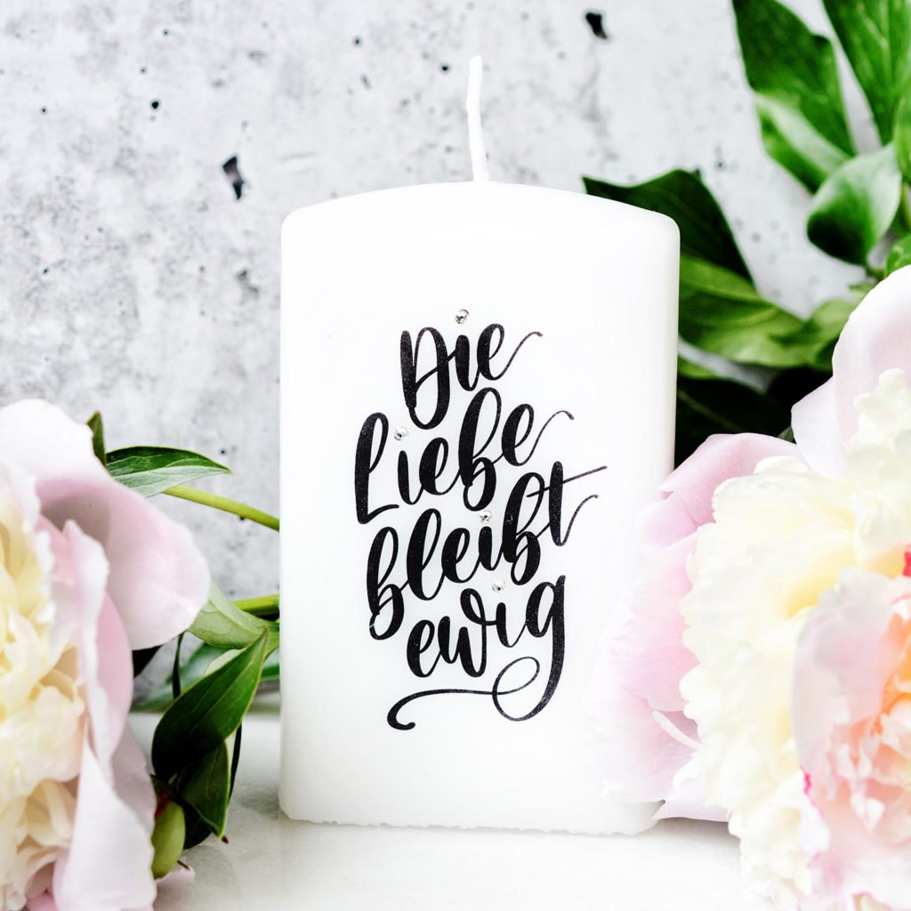 Kerzenspruch: Die Liebe bleibt ewig