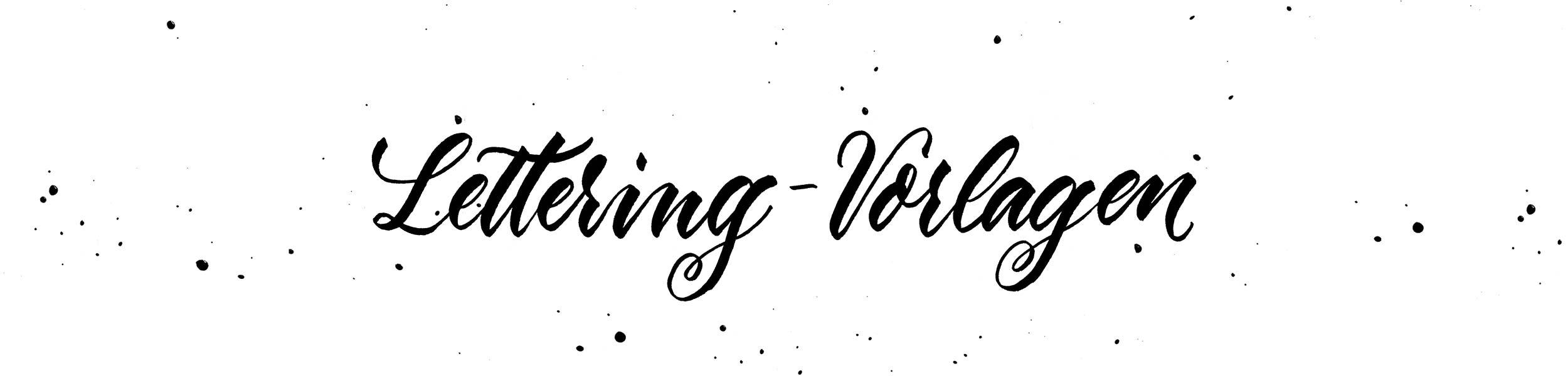 Lettering-Vorlagen