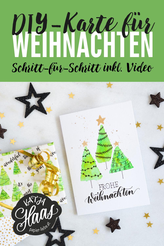 DIY-Karte für Weihnachten, Schritt für Schritt