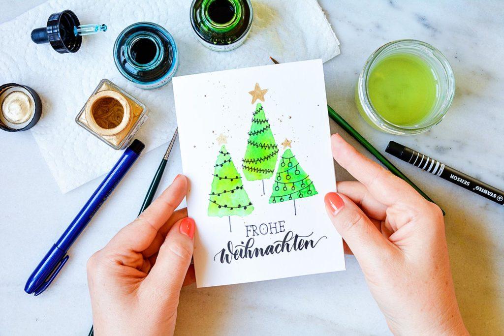 Produkte für die Weihnachtskarte