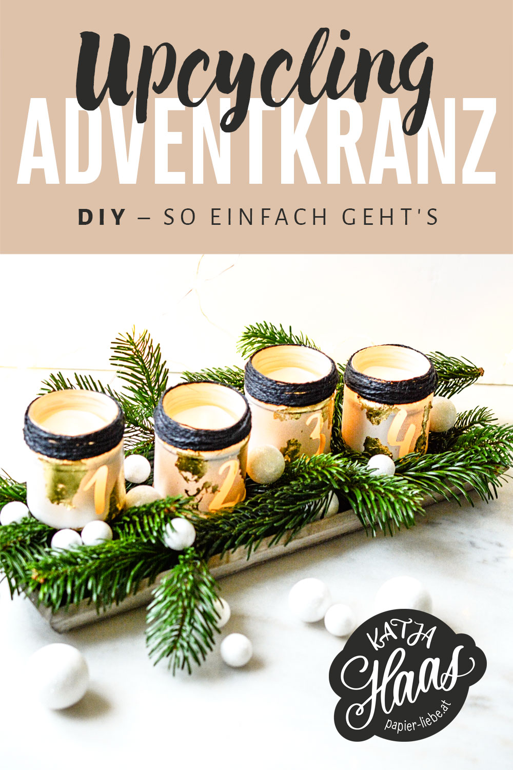 Upcycling-Adventkranz