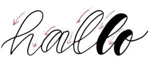 faux calligraphy oder falsche kalligrafie