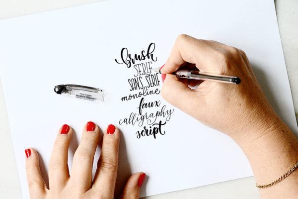 Handlettering-Basics: Schrift-Stile und Stifte