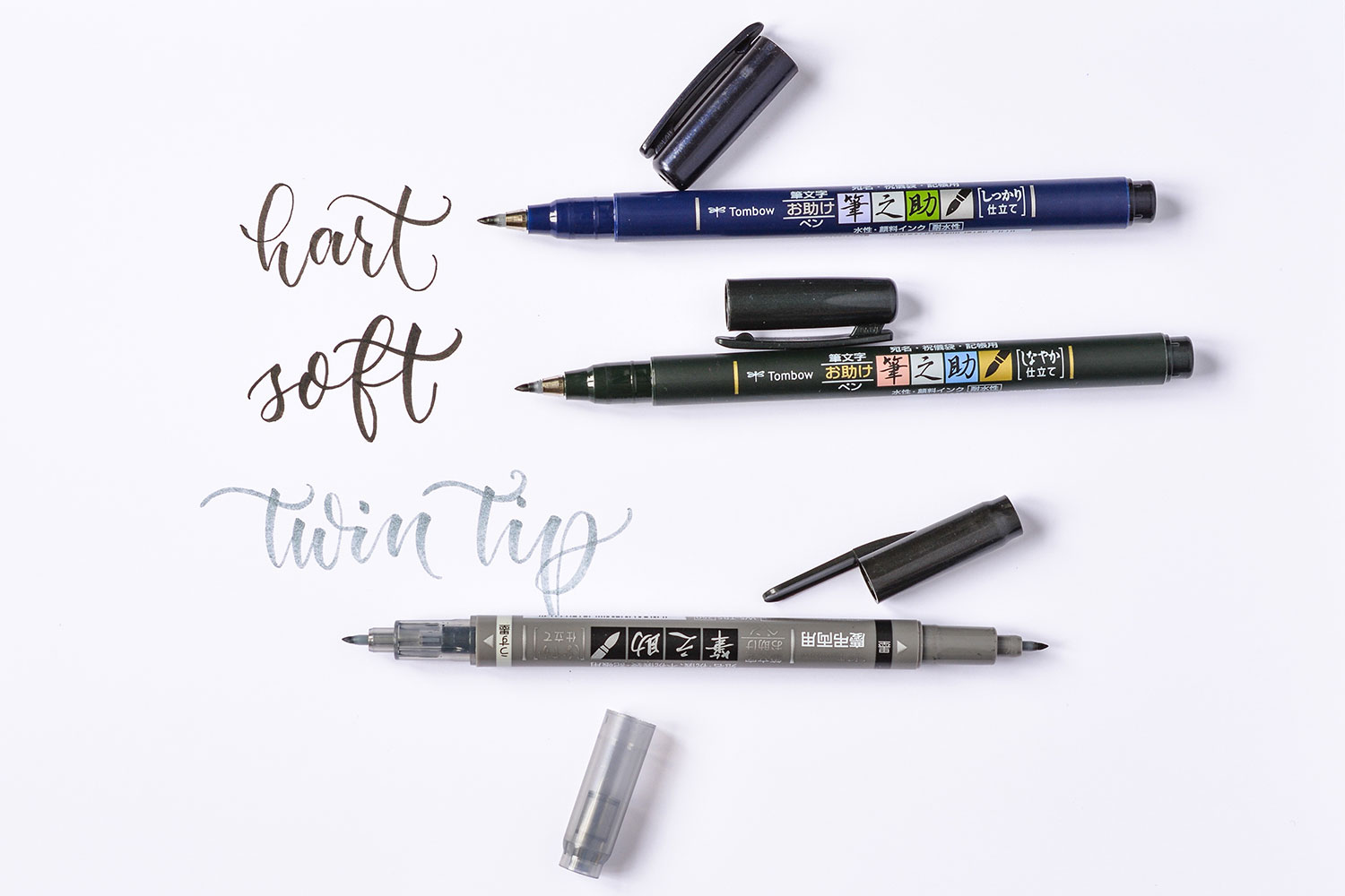 Tombow Fudenosuke hard, soft und twin tip