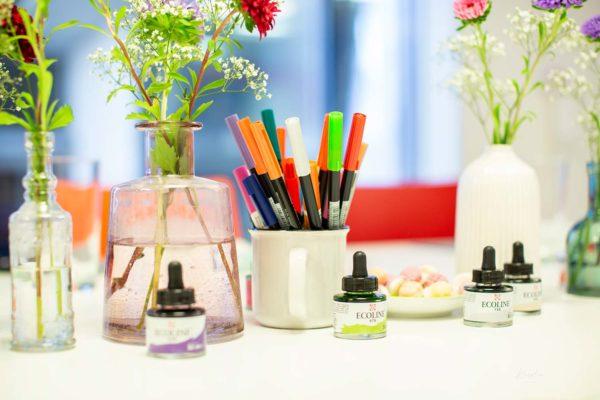 Brush-Lettering-Workshop Basic & Watercolor