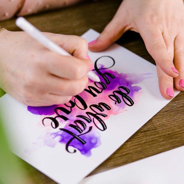 Brush-Lettering Workshop Basic & Watercolor