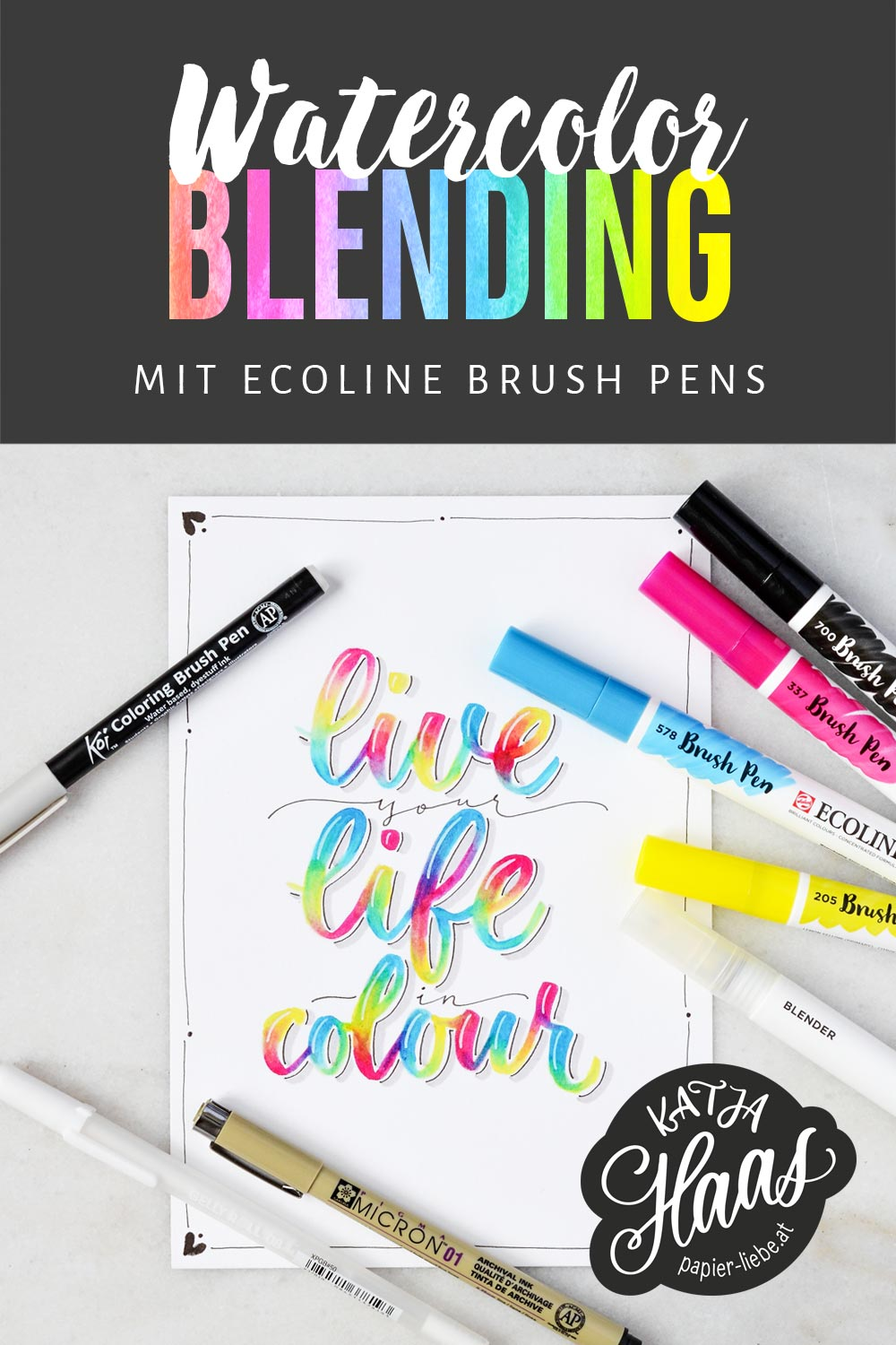 Watercolor-Blending mit Ecoline Brush Pens