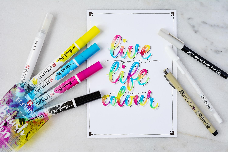 Watercolor-Blending mit Ecoline Brush Pens - Katja Haas ...