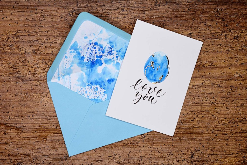 Ei love you – Osterkarte mit Envelope-Liner