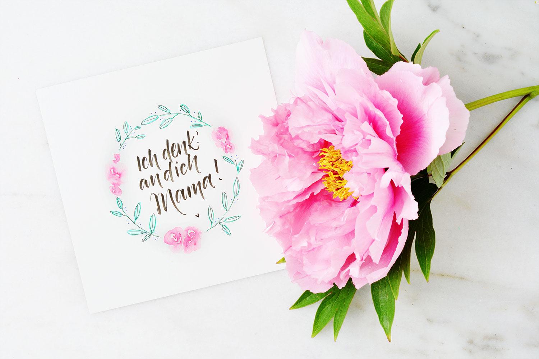 Muttertagskarte –Ich denk an dich Mama