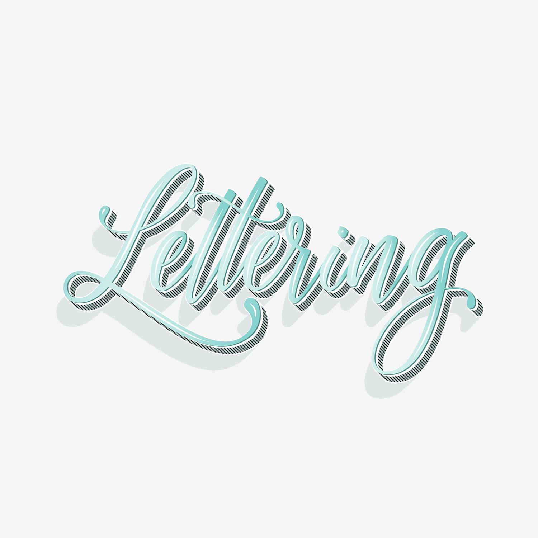 Lettering-Schriftzug mit 3D-Bounce-Effekt