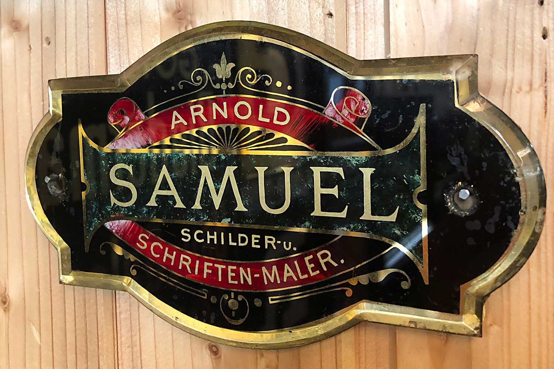 Türschild Arnold Samuel