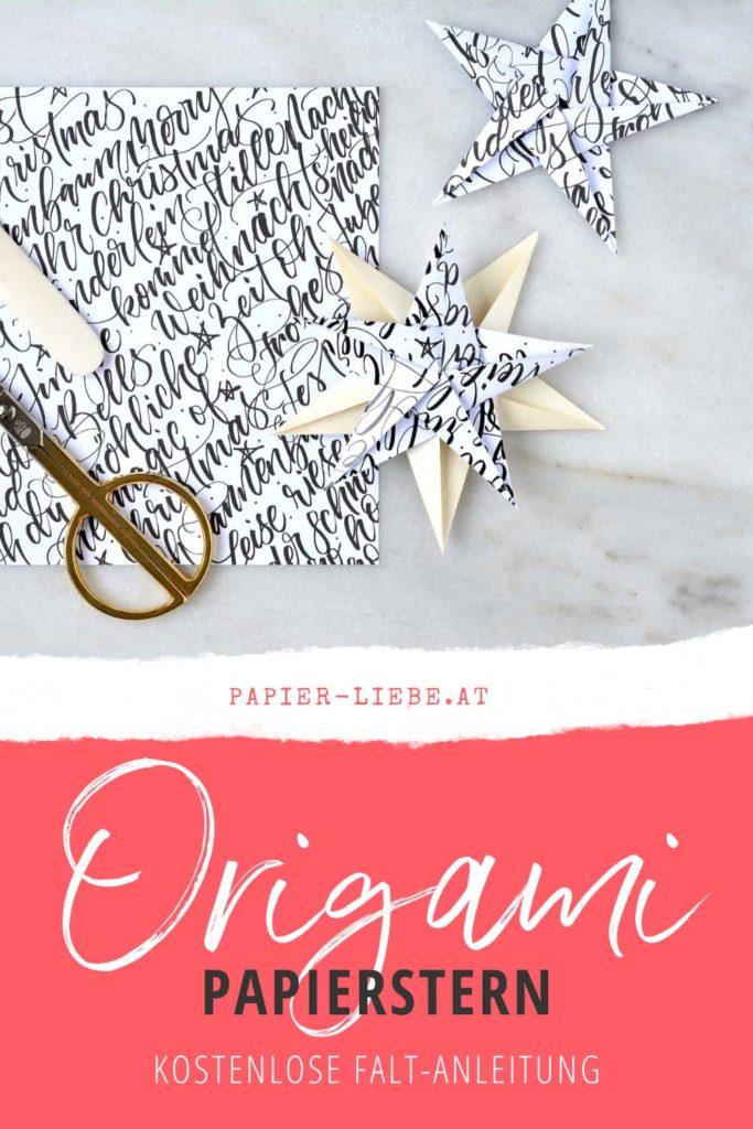 Origami-Papierstern falten