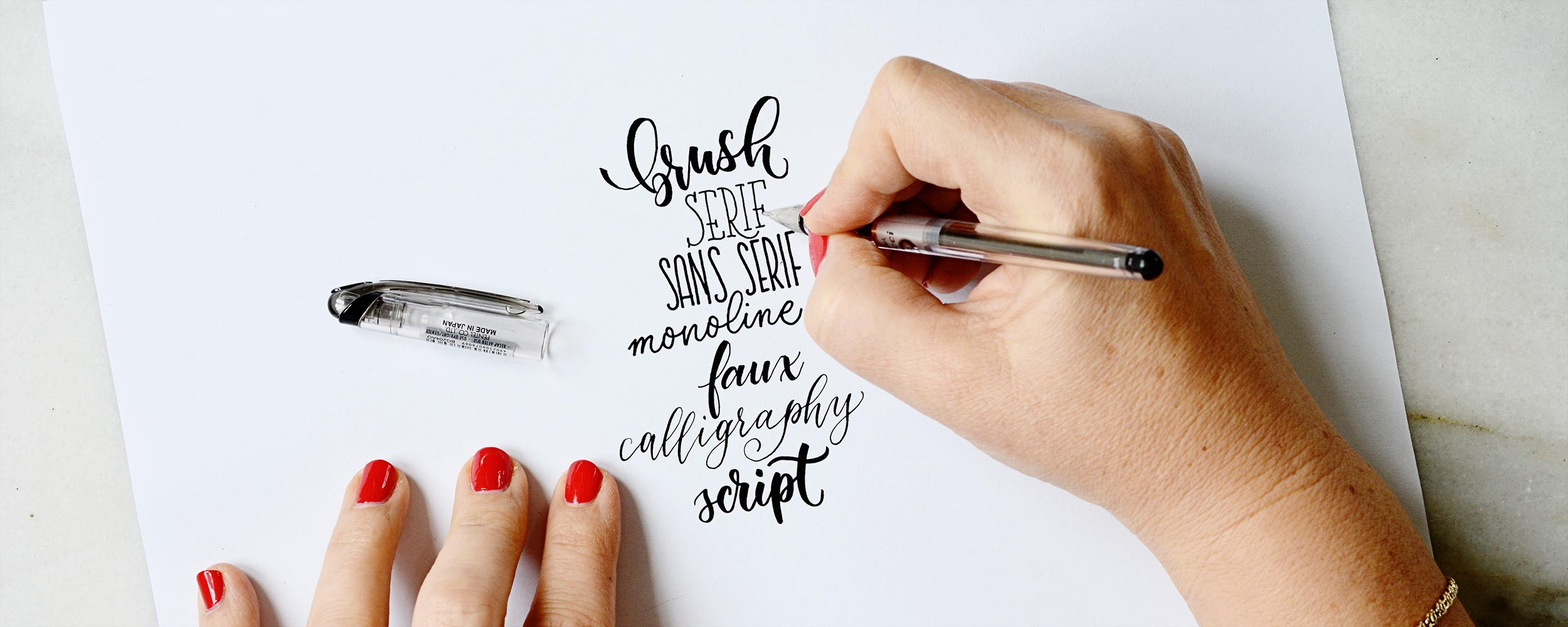 Handlettering Basic Schriftsstile