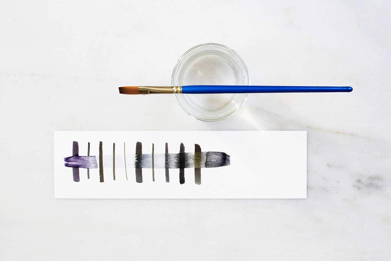 Stifte-Vergleich mit Wasser